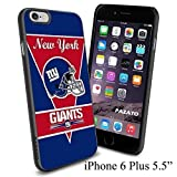 "NFL NY NEWYORK GIANTS , Cool iPhone 6 Plus (6+ , 5.5"") Smartphone Case Cover Collector iphone TPU Rubber Case Black by mcsharks"