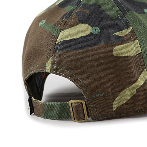 58928ddf THE HAT DEPOT Kids Washed Low Profile Cotton and Denim Plain Baseball Cap  Hat (Woodland