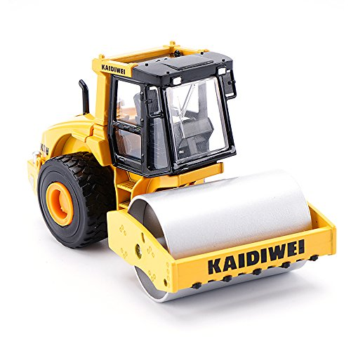 50 Diecast Vehicle (KDW 1/50 Scale Alloy Diecast Road Rollers Construction Vehicle Model Toys)