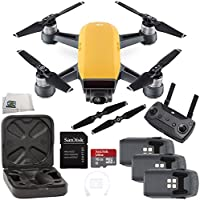 DJI Spark Quadcopter (Sunrise Yellow) + DJI Spark Remote Ultimate Bundle