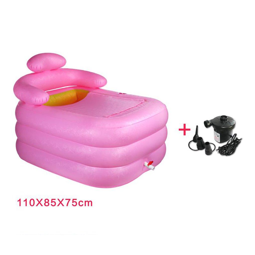 AJZGF Aufblasbare Badewanne, Verdickte Erwachsene Badewanne Kinder Badewanne Plastikwanne Tragbare Badewanne Badewanne (Farbe   C)