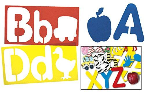 Royclo R5618 Big Alphabet and Picture Stencils, (Set of 26)
