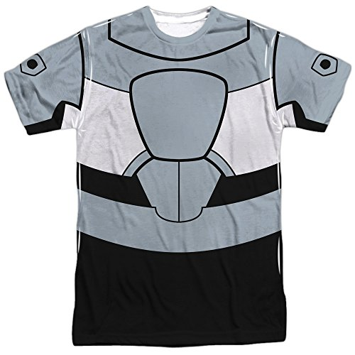 Cyborg Costume -- Teen Titans All-Over Front/Back T-Shirt, XXX-Large