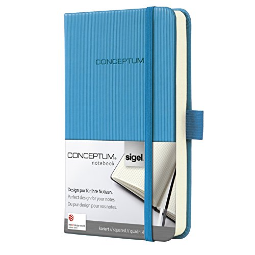 Sigel CO568 Notebook CONCEPTUM, Sky Blue, Hardcover, squared, approx. A6, with numerous features