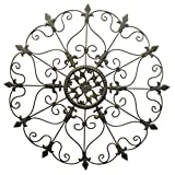 D64061 Crafted Wrought Iron Round Wall Art