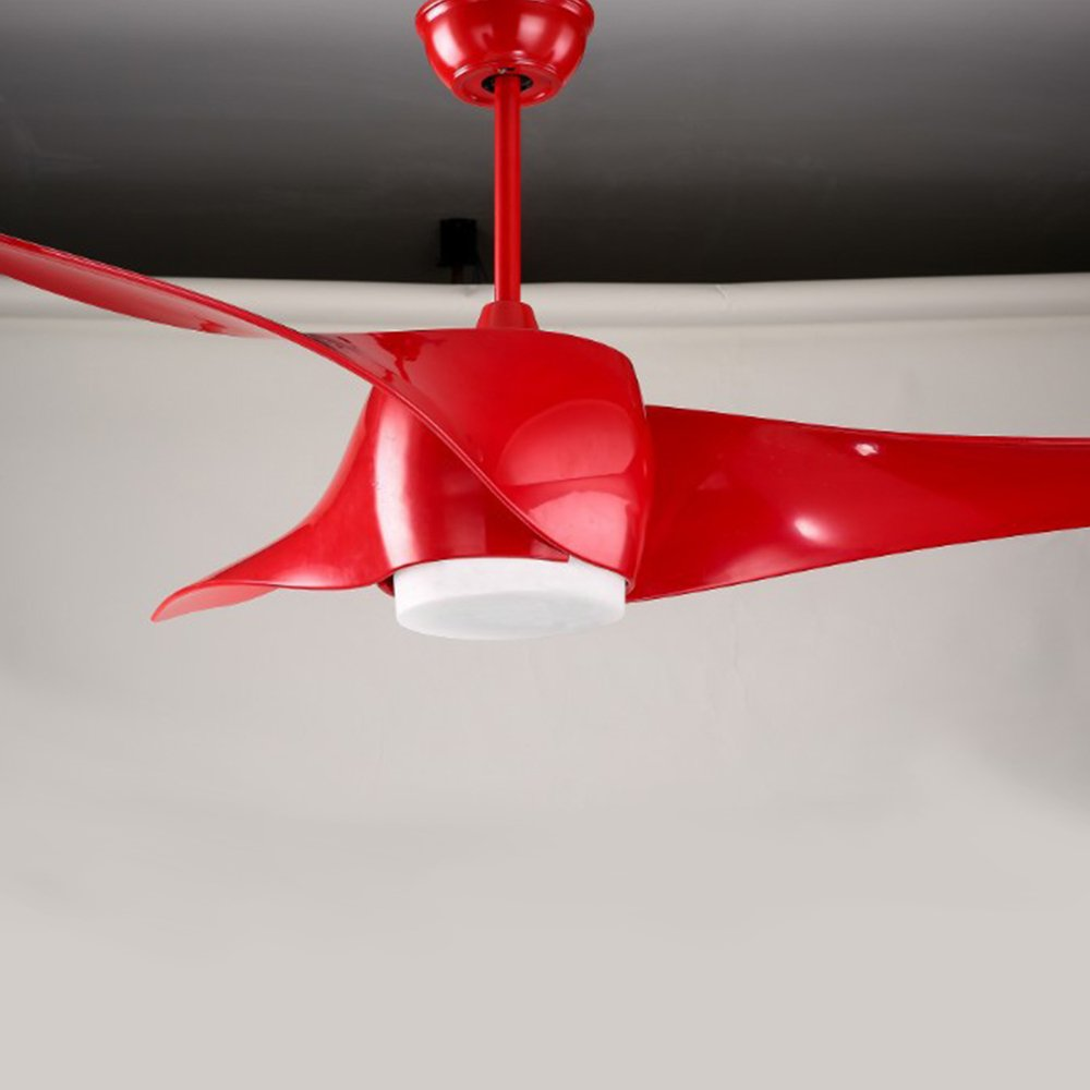 Rainierlight modern red ceiling fan 3 reversible blades for indoor remote control mute energy saving 52 inch amazon com