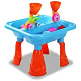 Kids Outdoor Sand and Water Toddler Children Activity Play Table Sandpit Toy Set