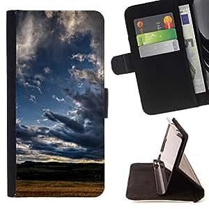 BullDog Case - FOR/Samsung Galaxy S3 III I9300 / - / Nature Cloud Shadow /- Monedero de cuero de la PU Llevar cubierta de la caja con el ID Credit Card Slots Flip funda de cuer