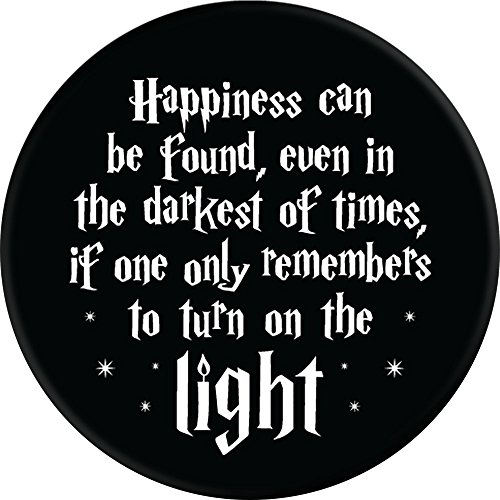 Brave New Look Happiness In Dark Times Pop Sockets Stand for Smartphones and Tablets by Brave New Look (Image #1)