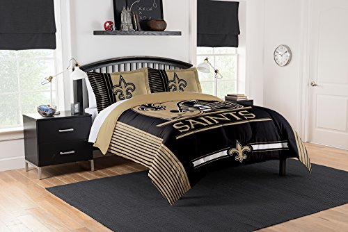 Officially Licensed NFL New Orleans Saints Safety Full/Queen Comforter and 2 Sham Set