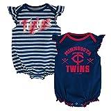 MLB  Minnesota Twins Infant Girls 2Pk Creeper-12 Months