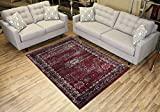 RugStylesOnline Comfy Collection Vintage Mahal Design Oriental Traditional Antique Look Area Rug, 83'' L x 59'' W, Red