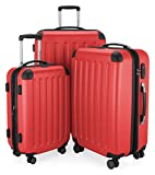 "HAUPTSTADTKOFFER - Spree - Set of 3 Hard-side Luggages Suitcase Hardside Spinner Trolley Expandable (20"", 24"" & 28"") TSA, Red"