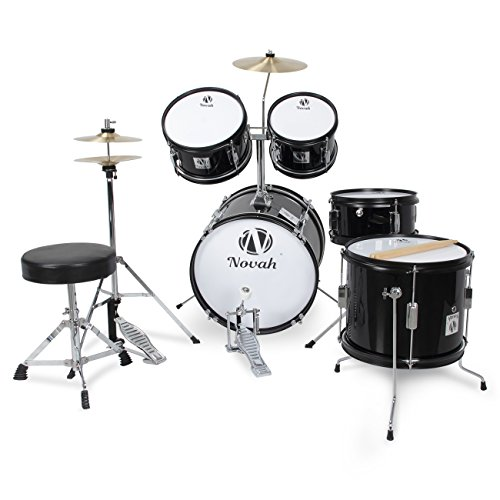 novah-5-piece-junior-drum-set-complete-with-cymbals-throne-and-stool-black