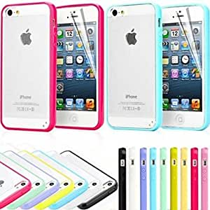 QHY TPU Bumper Frosted Back Case for iPhone 5/5S(Assorted Colors) , Pink