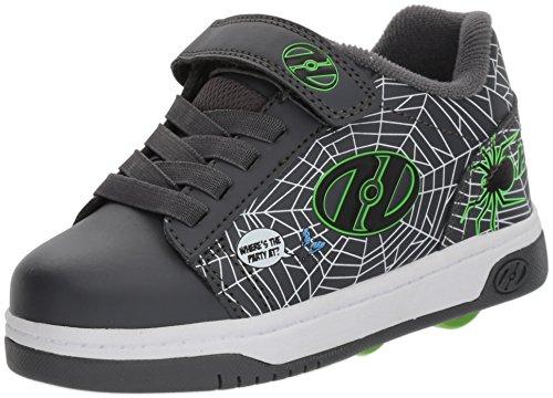 Heelys Boys' Dual UP X2 Tennis Shoe, Grey/Lime/webs, 6 M US Little Kid