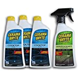 Cerama Bryte Cleaning Bundle with Cooktop Cleaners and Granite Cleaner, 4 Count