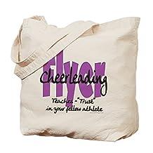 CafePress - Cheer Flyer Purple - Natural Canvas Tote Bag, Cloth Shopping Bag