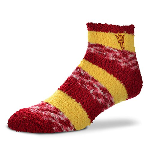 For Bare Feet NCAA RMC Pro Stripe Fuzzy Sleep Socks-One Size Fits Most-Arizona State Sun Devils (Feet Devils Comfy)