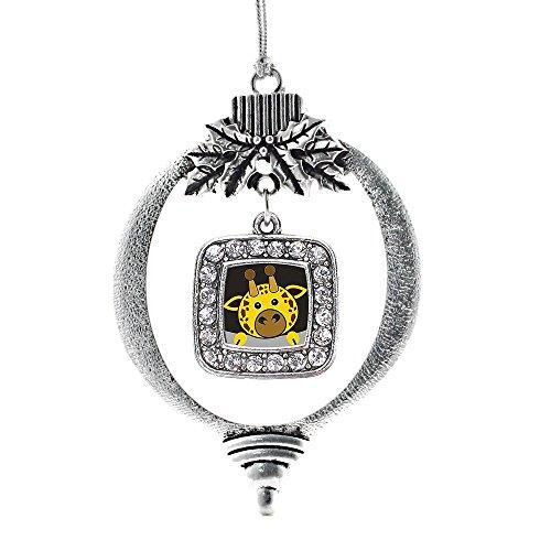 Inspired Silver - Square Peeking Giraffe Classic Holiday Ornament, Christmas Tree - (Classic, Square Peeking Giraffe)