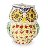 NOVICA Multicolor Animal Themed Ceramic Pitcher, 87 oz. 'Owl Hospitality'