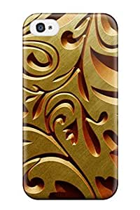 New Fashion Premium Tpu Case Cover For Iphone 4/4s - Gold