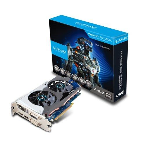 Sapphire Sapphire Radeon VAPOR-X R7 250X 1GB GDDR5 DVI-I / DVI-D / HDMI / DP OC version PCI-Express Graphics Card Graphics Cards 11229-01-20G