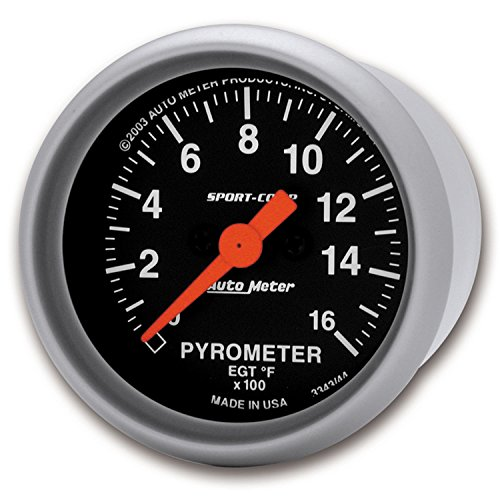 Auto Meter 3344 Sport-Comp Electric Pyrometer Gauge (Series Pyrometer Kit)