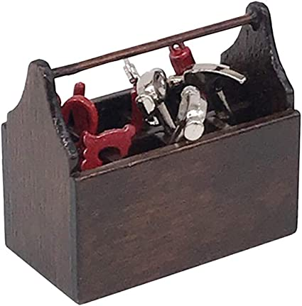 Juego de 8 piezas de minicaja de herramientas para casa de muñecas, accesorios para bricolaje, hecho a mano, herramientas para muebles de casa de muñecas: Amazon.es: Oficina y papelería