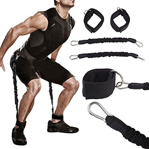 Queta Fitness Ceinture de jambe d'entraînement de musculation durable Ceinture stretch Fitness d'exercice