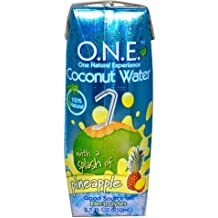 O.N.E COCONUT WATER 100% NATURAL WITH PINEAPPLE 16.9 OZ EACH (1)