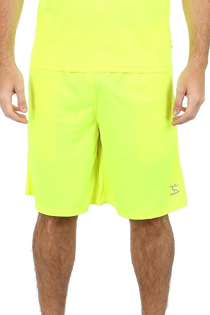 UZZI Men's Athletic Workout Dri Fit UPF 50+ Shorts
