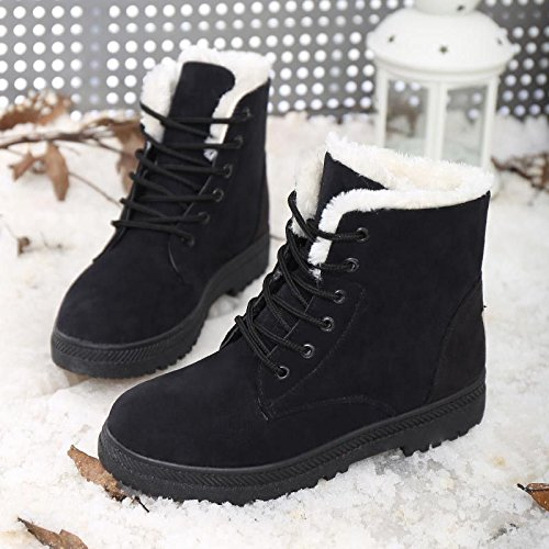 Amocon Schneeschuhe Kurze Damenstiefel Kurze Schneeschuhe Stiefel Herbst Und Winter Antirutsch SAMT Und Wärme Baumwollschuhe 8132fd