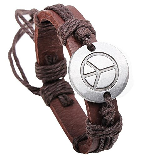 Fariishta Jewelry Fashion Hand Braided Alloy Buckler Leather Bracelet Napier Twisted Bracelet