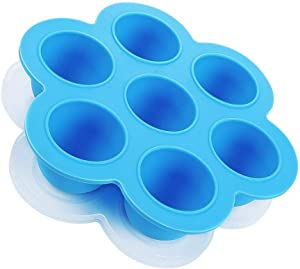 Egg Bites Molds for Instant Pot Accessories, Freezer Ice Cube Trays Silicone Food Storage Containers with Lid, 5,6,8 qt Pressure Cooker, Blue