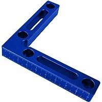 Happymore 90 graden positionering beugel, aluminium houtbewerking timmerman gereedschap, L-vormige hoekklem, haakse…