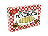 Bulk Buys HT876-96 Round Beige Wood Toothpicks - Pack of 96