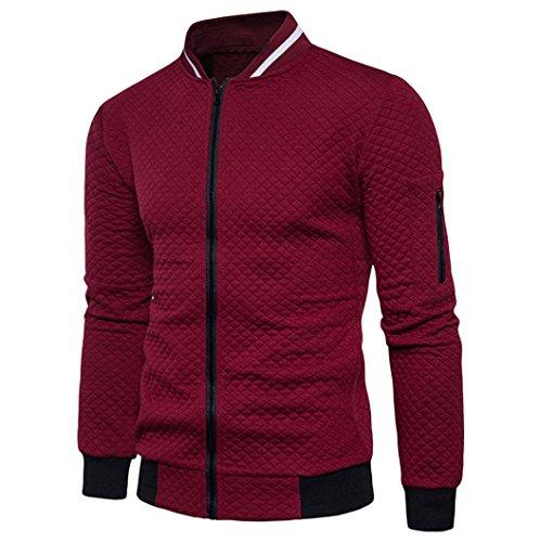rebeca sudadera chaquetas escocesa hombre OverDose Vino Rojo chaqueta invierno cremallera 7UwXax6q