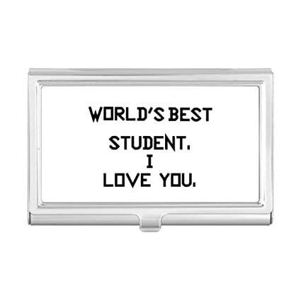 Amazon world best student i love you student quote business world best student i love you student quote business card holder case wallet reheart Gallery