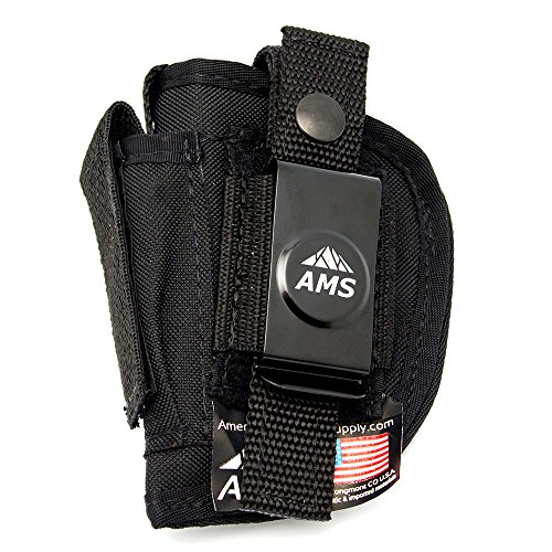 Belt Clip Concealed Gun Holster by American Mountain Supply for Small Semi Autos & Pocket Pistols - Fits Smith & Wesson Bodyguard 380, Sig 238, Sig 938 - Ambidextrous Wear On Either Hip