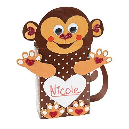 Monkey Card Holder (Fun Express Monkey Valentine Card Holder Craft Kit - Makes 12)