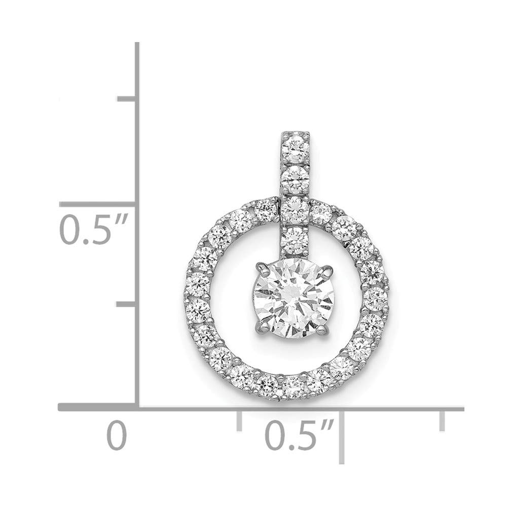 Mia Diamonds 10K Tiara Collection White Gold Polished CZ Pendant