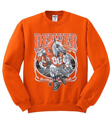 - Wild Bobby Denver Fan   DEN Fantasy Football   Mens Sports Crewneck Graphic Sweatshirt, Orange, X-Large