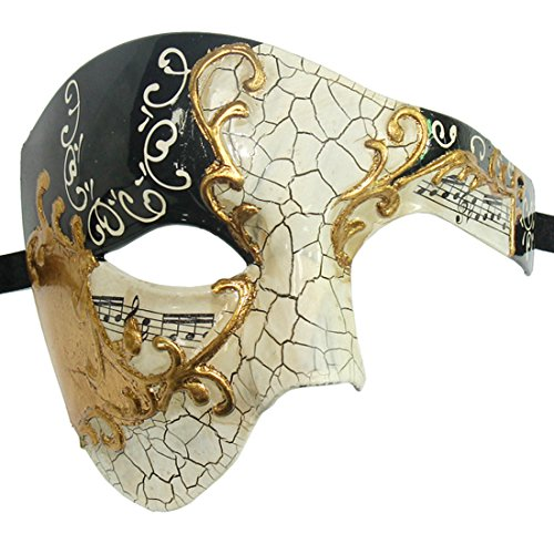 Xvevina Men Masquerade Mask Phantom of The Opera