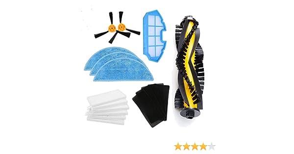 LIRR Kit de accesorios de limpieza para robots aspiradores Conga Excellence:cepillos laterales,cepillo central,filtro EPA,filtro malla,cepillo de limpieza: ...
