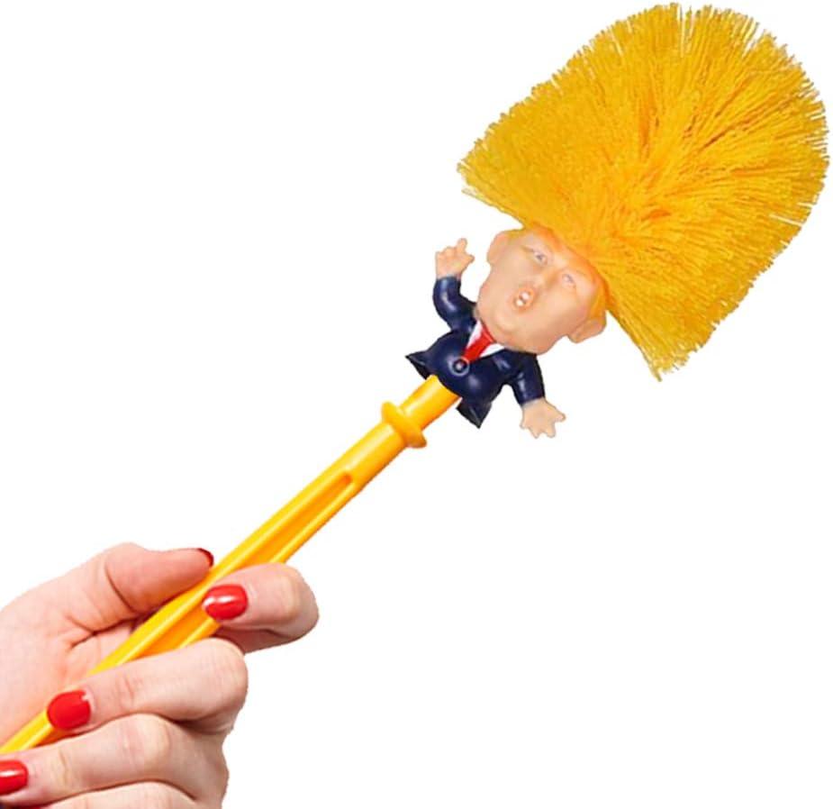 Mobi Lock Donald Trump Toilettenb/ürste Orange-Gelb Gag-Geschenke Klob/ürste f/ür Haushalt Neuheit Lustige Pr/äsidenten-B/ürste mit Halter /& St/änder Bad Witzige Politik-Scherzartikel