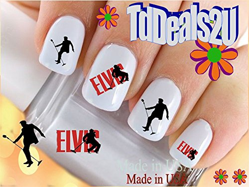 - Elvis #1 Silhouette - General Nail Decals - WaterSlide Nail Art Decals - Highest Quality! Made in USA