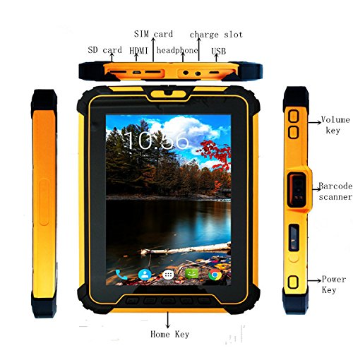 Android 7.1 Rugged Tablet PC, 8-Inch / With Zebra EM1350 1D Laser Bar Code Scanner Engine / Qualcomm 8-core CPU / GPS / Rugged & Waterproof For Enterprise Mobility by Sinicvision Technology (Image #2)