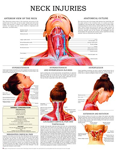 Neck injuries - Quick Reference Chart: Full illustrated (Chart Massage Hand)