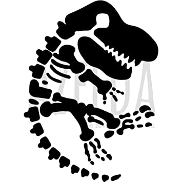 Azeeda A4 Dinosaur Fossil Wall Stencil Template WS00002525